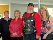 Linda Matchett, Elaine Dickson, Vet. Reg Pollock, Brenda Daigle