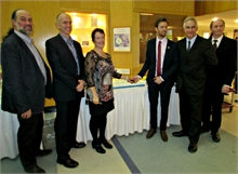 L to R: Marc Allain, Dr. Boulay, Marilyn Underhill, Adam Lordon, Gary Foley, Dr. Hayden