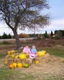 Lumpkin Pumpkin friends Meggie Clark and Anika Nastasuik