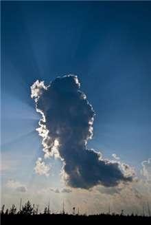 Sun behind cloud at Regent Mall
