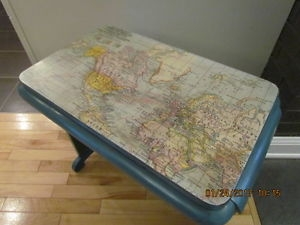 Upcycled Vintage Map Table
