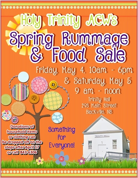 Spring Rummage and Food Sale