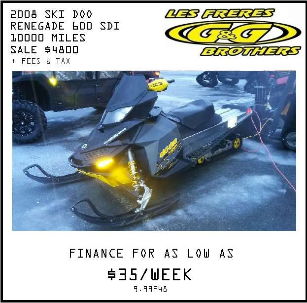 Miramichi Recreational Vehicles for Sale 2008 Ski Doo