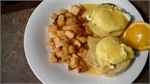 Local Miramichi Restaurant Specials Restaurant Specials 2 eggs benedict - Two eggs poached to your liking served on ham and a full English muffin topped wit