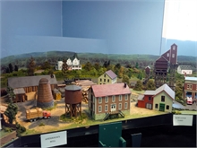 Depiction of Anderson's Mill, part of the display at the Seaman's Hospital.