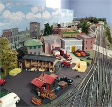 Part of the Miramichi Area Model Railroad Society's display at the Seaman's Hospital.