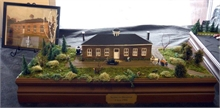 Diorama of the Seaman's Hospital in Douglastown, on display at the Visitor Information Centre at French Fort Cove.