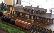 A diorama of the old train station in Newcastle that was built around the 1800's, on display at the Visitor Information Centre at French Fort Cove.