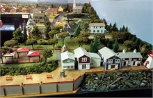 A section of the layout depicting Ritchie Wharf.