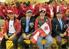 Veterans at the Red Friday photo in 2014.