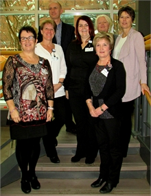 Front: Marilyn Underhill, Stephanie Cassidy, Middle: Bonnie Matchett, Rachel Deveau, Debbie Donovan. Back: Dr Boulay and Mary Jardine