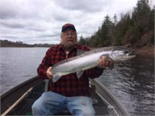 "Clarence B with a 38"" Salmon- May 17,16"