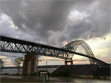 Dramatic View of the Centennial Bridge