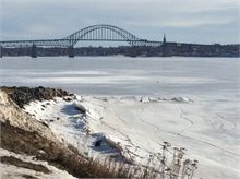 Centennial Bridge in Winter