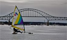 Ice Boat on River