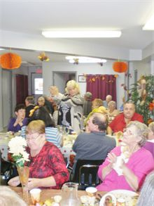 Thanksgiven dinner at Tweedie Manor Senior communnity .