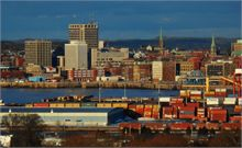 Uptown Saint John from Martello Tower in Saint John West