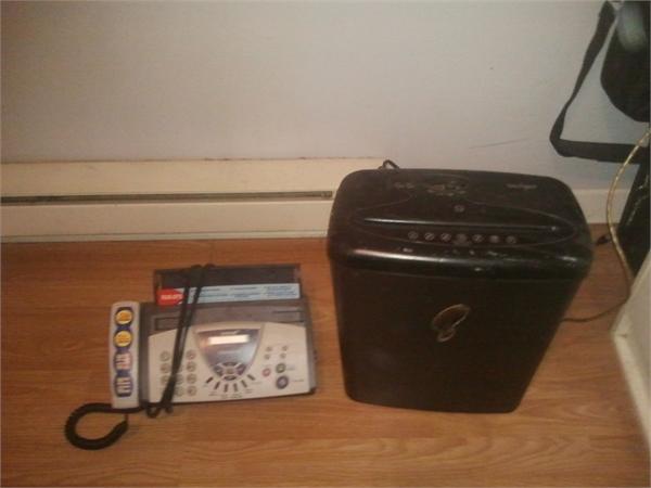 Fax machine and Paper Shredder