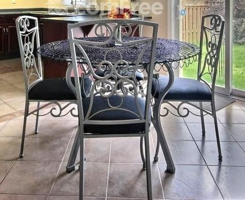 Glass Kitchen Table-4 chairs