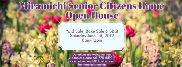 Open House: yard sale, bake sale, BBQ