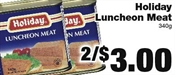 Miramichi's Local Marketplace and Deals luncheon meat