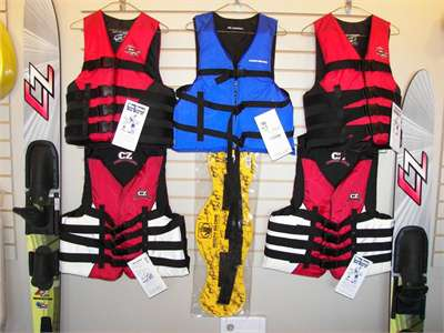 Water Skis and Life Vest